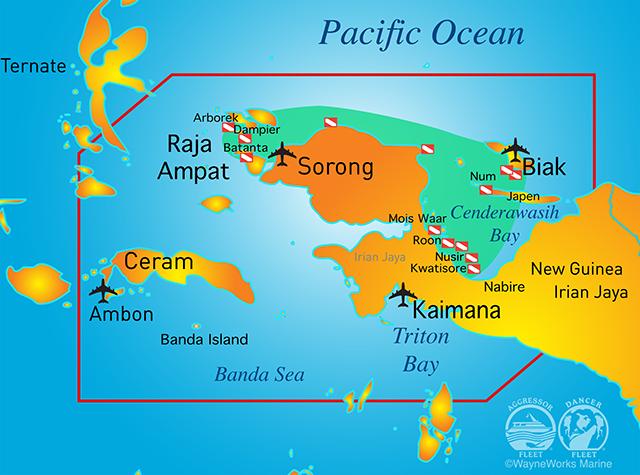 Raja Ampat Map