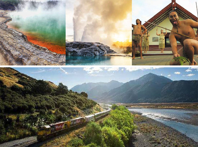 Rotorua and Alpine train journey