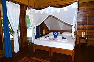 Double bed - Superior Cottage - Agusta Eco Resort - Raja Ampat Dive Resort