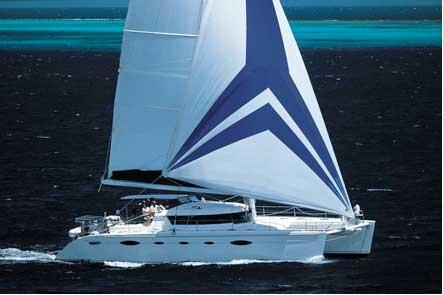 A catamaran of type Eleuthera, from Fountaine-Pajot, the AQUA TIKI II is ...