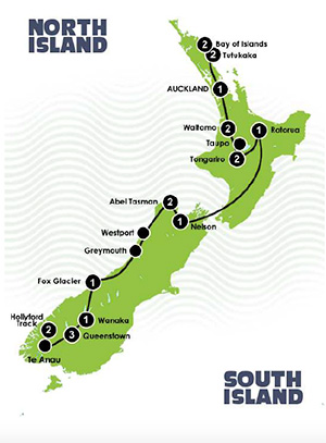 Best of New Zealand Tour - New Zealand Tours - Dive Discovery New Zealand