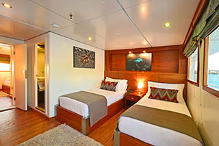 Upper Deck Cabin - Celebrity Xploration - Galapagos Liveaboards - Dive Discovery Galapagos