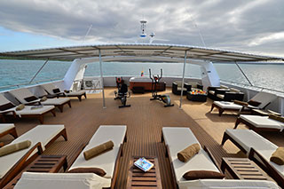 Sun deck - Celebrity Xploration - Galapagos Liveaboards - Dive Discovery Galapagos