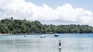 Stand up paddling - Club Santana - São Tomé Dive Resort