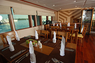 Dining area - MV Emperor Leo - Maldives Liveaboards