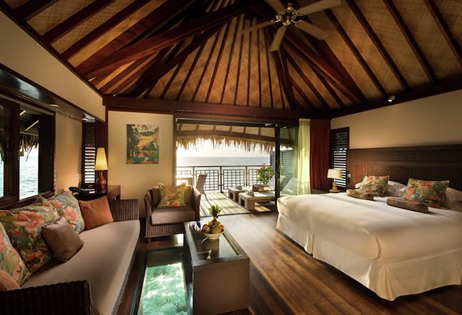 Bedroom - King Bungalow With Lagoon View - Hilton Moorea Lagoon Resort & Spa