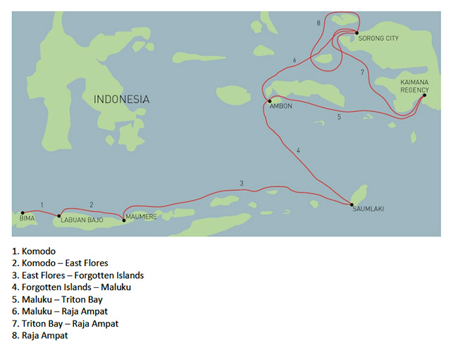 Routes - MSY Ilike - Indonesia Liveaboards