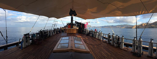 Dive deck - MSY Ilike - Indonesia Liveaboards