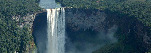 Kaieteur Falls, the highest single drop waterfall in the world, Guyana