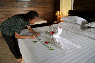 Lembeh Resort - Deluxe Cottage - Traditional Minahasan style