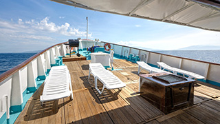 Sun deck - M/Y Resolute - Philippines Liveaboard