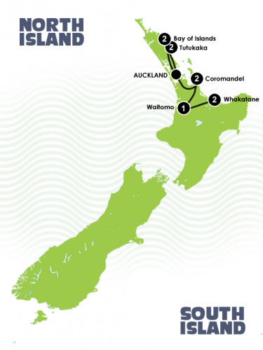 New Zealand Diving Adventure - Map