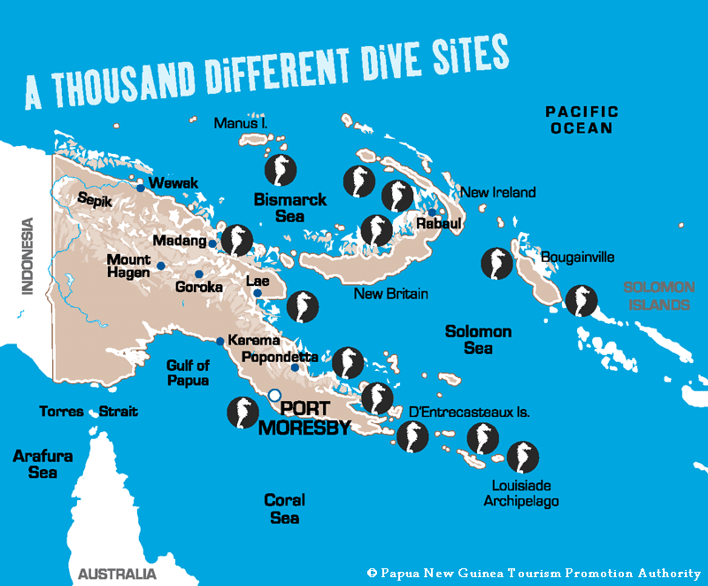 PNG Diving Map, Papua New Guinea