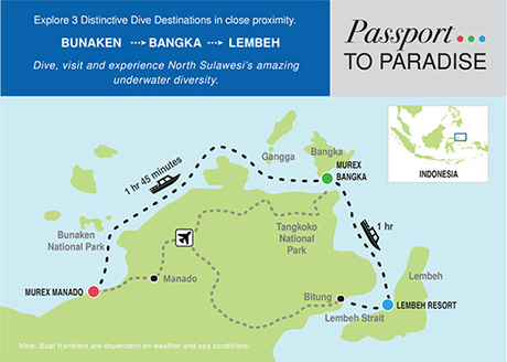 Passport to Paradise package: Bunaken, Bangka & Lembeh Diving