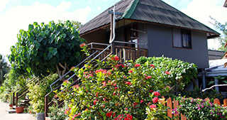 Garden Bungalow - Pension Havaiki Lodge - Dive resort in Fakarava North in Tahiti