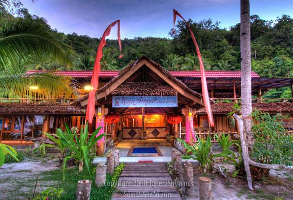 Raja ampat dive lodge indonesia dive resorts dive - Raja ampat explorers dive resort ...