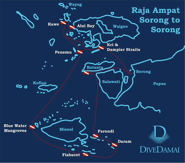 Dive Raja Ampat Map