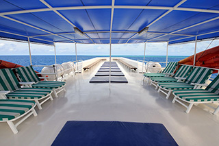 Sun deck - Raja Manta Explorer - Indonesia Liveaboard