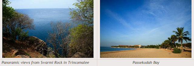 Sri Lanka travel destinations - Panoramic views from Swarmi Rock in Trincomalee - Passekudah Bay