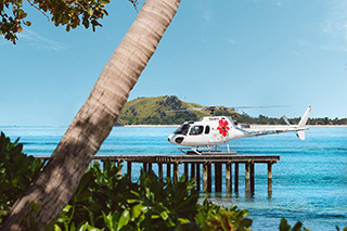 Helicopter - Tokoriki Island Resort - Fiji Dive Resort