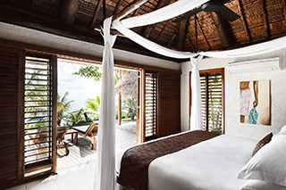 Bedroom - Beachfront Pool Villa - Tokoriki Island Resort - Fiji Dive Resort