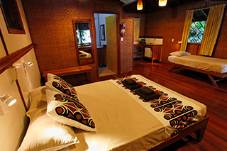 Bunglow interior - Walindi Plantation Resort - PNG Dive Resorts