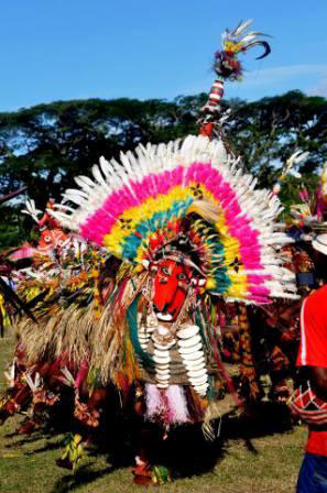 Watam village 'dragon dance', Sepik River Crocodile Festival