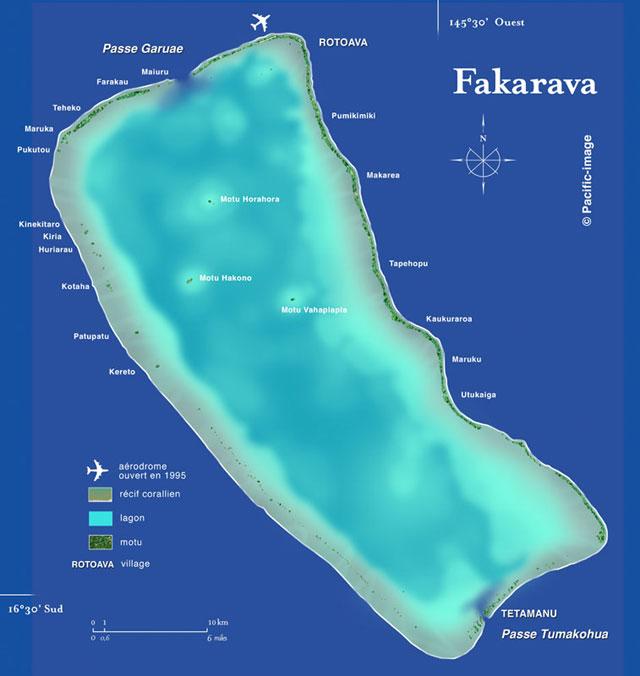 Fakarava Island Map