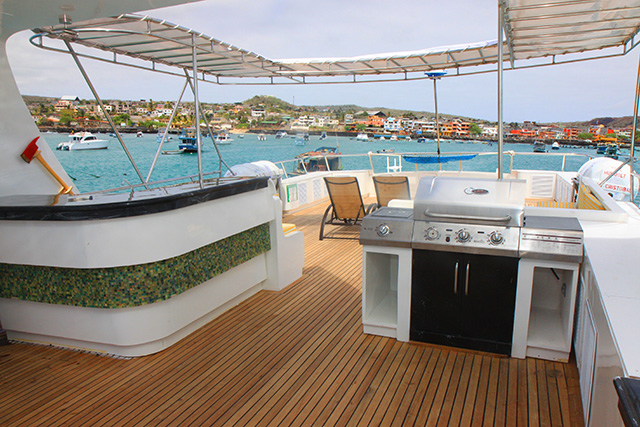 Sun deck and BBQ area - Humboldt Explorer - Galapagos Liveaboard
