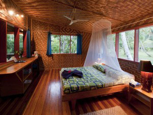 Bedroom - Lissenung Island Resort - PNG Dive Resorts